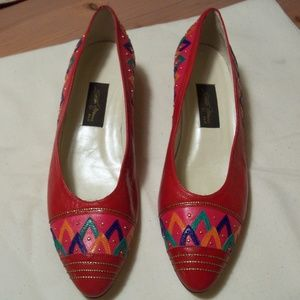 SESTO MEUCCI OLE LEATHER PUMPS 8.5N MADE IN SPAIN